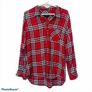 Rails Red and Black Plaid Blouse